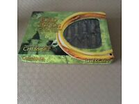Lord of the Rings Chess game in Pewter and bronze in excellent condition