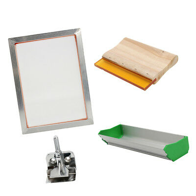 Silk Screen Printing Machine Press Kit Set Squeegee For T-shirt Diy Printer