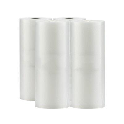 4 Rolls 8X50 Rolls Embossed Vacuum Sealer for Foodsaver 4Mil Bags 200ft BPA Free for sale  USA