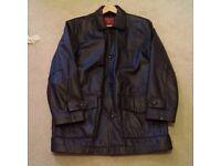 Man's leather jacket.