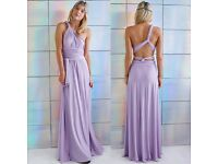 Multiway bridesmaids dress, light purple - size 12-16
