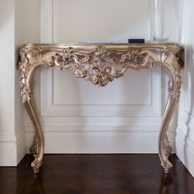 Small Gold Console Table - Quick Sale