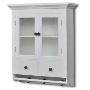 White Wooden Kitchen Wall Cabinet with Glass Door (SKU 241374) Mount Kuring-gai Hornsby Area Preview