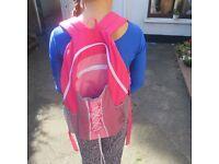 Girls pink School bag £3.00