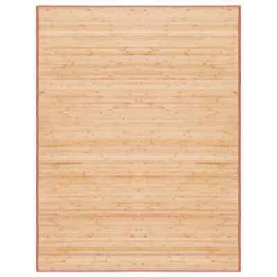 vidaXL Alfombra de Bambú 150x200cm Marrón Decoración de Interior Casa Hogar