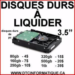 Plusieurs Disques Durs de PC à Liquider