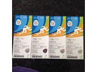 4 x Rio olympics athletics tickets 17/8/16