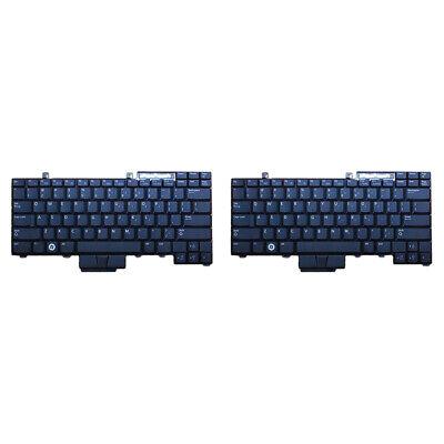 2 Pcs For Dell Latitude E6400 E6410 E6500 English  Keyboard for sale  Shipping to Nigeria