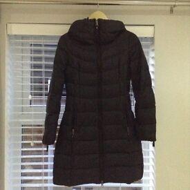 Black Benetton long puffa jacket