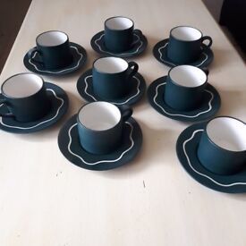 Habitat 8 coffee cups and saucers as new
