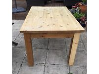 Heavy weight pine table a nod chairs
