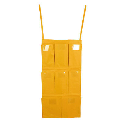Cleaning Trolley Janitorial Housekeeping Cart Hanging Bag Organizer Yellow