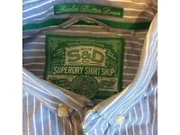 Will post. Like new. Superdry shirt size medium blue pin stripe