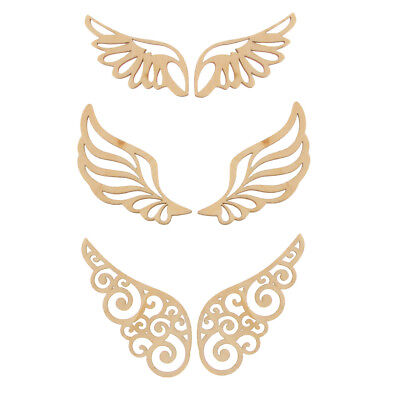 Laser Cut Retro Wings Wood Wooden DIY Crafts Supplies for Wall Sticker - Diy Wood Wall