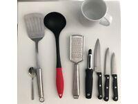Chopping Board/ Kitchen Crockery/ 12 piece cutlery set