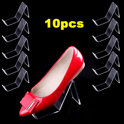 10pcs Clear Acrylic Shoe Store Display Stands Rack Holder Sandal Display Stands