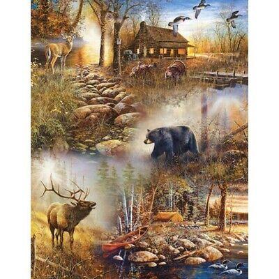 Full Drill Deer Bear DIY 5D Diamond Painting Kits Art Embroidery Home Decor -
