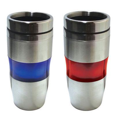 Cup Mug Bottle Tumbler Stainless Steel Thumb-Slide Closure Hot Cold Drinks 16oz