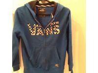 Blue boys vans hoodie in XS. In very good condition