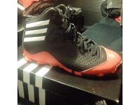 Adidas basketball trainers - red and black size 7 - * UNWORN brand new in box * unique style
