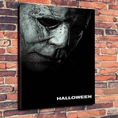 Halloween 2018 Printed Canvas Picture Multiple Sizes, Horror, Michael Myers - Halloween Horror Pic