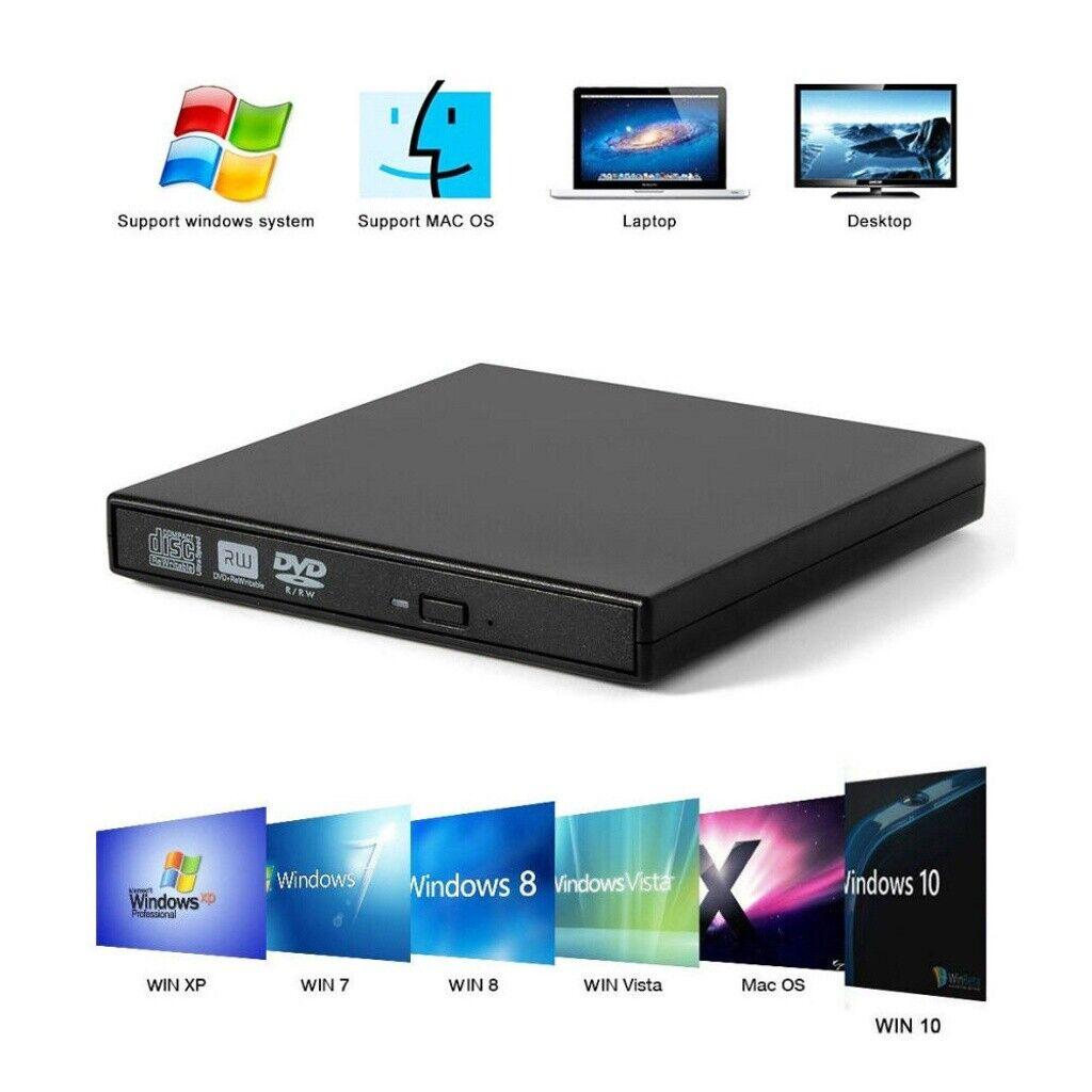 Externes DVD Laufwerk USB Brenner Slim CD DVD±RW brenner für PC Laptop Notebook