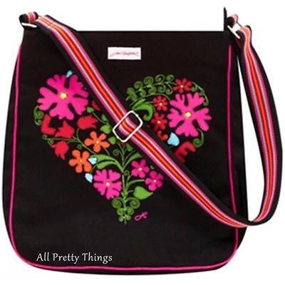RRP £40- JAN CONSTANTINE Designer BOHO HEART Messenger Bag ULSTER WEAVERS