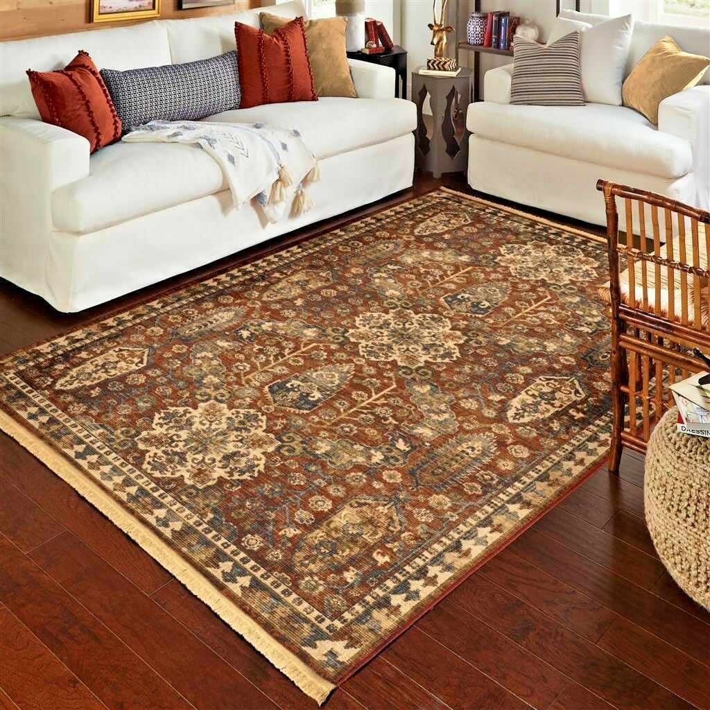 Details about RUGS AREA RUGS CARPET 8x10 AREA RUG ORIENTAL LARGE LIVING  ROOM FLORAL RED RUGS ~