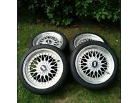 18inch BBS Reproduction Alloy Wheels multifit 4x100 4x112