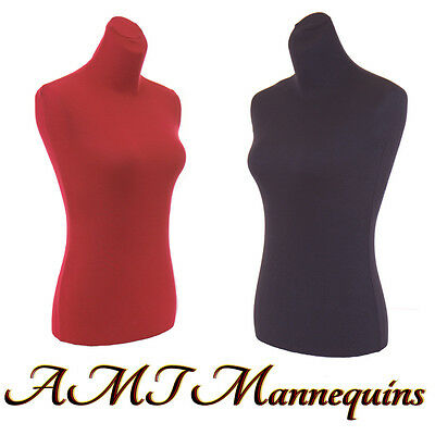 2 torso covers, to renew female mannequin torso size S-M, 2 nylon Jerseys-RD+BLK for sale  Hayward