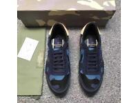 Valentino Rockstud Sneakers (Blue)