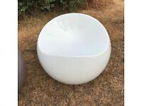 DuPont Original Finn Stone Ball Chair - White