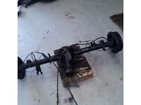 nissan navara d40 rear axle complete with abs and cables