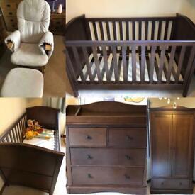 Nursery furniture 3- piece + rocking chair