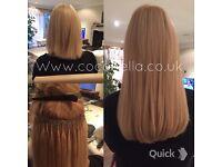 Russian Brazilian Indian virgin Remi Micro rings keratin bonds human hair extensions from £140