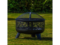 Boxed New Elegant Fire Pit With Floral Detail