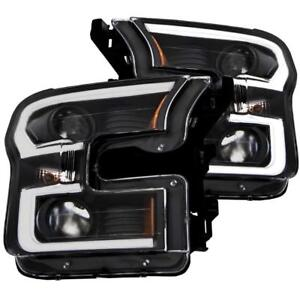 2015-2017 F150 ANZO LED Outline Projector Headlights with Black Housing | Free Shipping | motorwise.ca