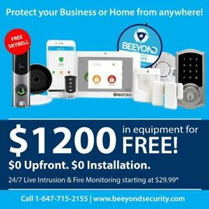 Free Smart Home Security Alarm System! 3 Months Free! $0 Upfront! Free Video Doorbell Camera !