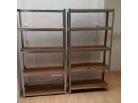 two lightweight adjustable shelving units can deliver