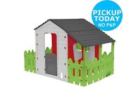 Extra large play house - farmhouse with garden and porch!