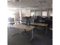 office desks, peds and chairs