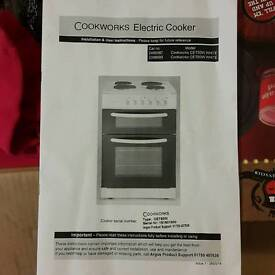 Cookworks cet50w white oven