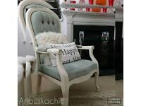 Vintage shabby chic French Farmhouse fireside armchair
