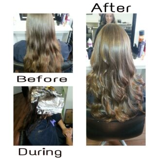 $110 Foils, Toner, Cut & Blow-dry.