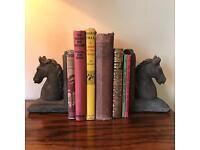 2 pair horse equestrian heavy weight ornamental book ends