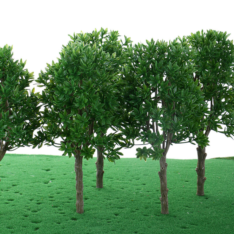 6 Pieces Model Trees for Layout Train Railroad Landscape DIY Model Scenery Kit