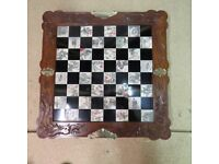 Oriental Chess Game in 'carved wood' - excellent condition - For sale.