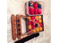 Snooker Balls, Pool Balls, Cues, Rests and Scoreboard