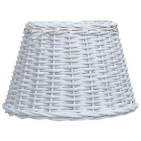 Lamp Shade Wicker 38x23 cm White-287608