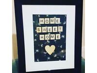 Scrabble art frames